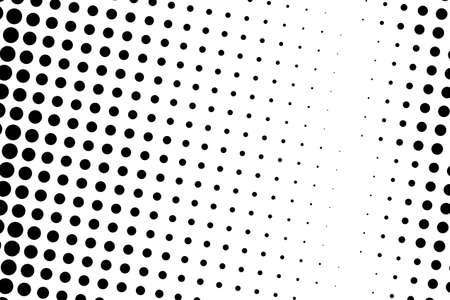 Comic background. Halftone dotted retro pattern with circles, dots, design element for web banners, posters, cards, wallpapers, backdrops, sites. Pop art style. Vector illustration. Black and white