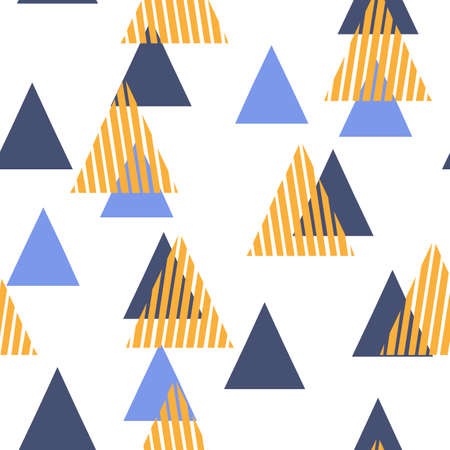 Abstract Geometric Pattern with the triangles. Scandinavian flat style for printing on mens and womens clothing, paper, fabric, textile, gift wrap, wallpapers, covers. Seamless vector illustration