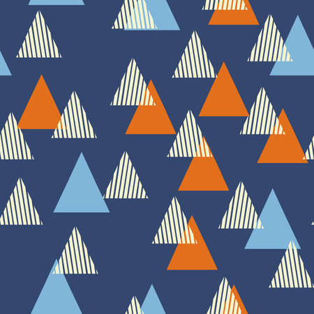 interior decoration: Abstract Geometric Pattern with the triangles. Scandinavian flat style for printing on mens and womens clothing, paper, fabric, textile, gift wrap, wallpapers, covers. Seamless vector illustration