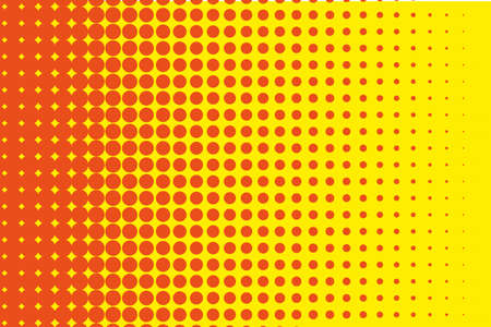 perforated: Dotted retro backdrop, panels with dots, points, circles, rounds. Comic pattern. Halftone background. Orange-yellow color.  Design element for web banners, posters, cards, wallpaper, sites, covers Illustration