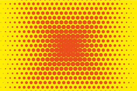 rounds: Dotted retro backdrop, panels with dots, points, circles, rounds. Comic pattern. Halftone background. Orange-yellow color.  Design element for web banners, posters, cards, wallpaper, sites, covers Illustration