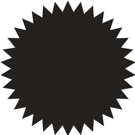 スター バースト、サンバースト、ラベル、ステッカー。バッジ。黄色の色です。シンプルなフラット スタイル、レトロなビンテージ スタイルのフラット。デザイン要素です。ベクトル図 写真素材 - 85058105