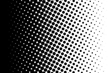 Abstract monochrome halftone pattern. Comic background. Dotted backdrop with circles, dots, point. Design element for web banners, posters, cards, wallpapers, sites. Black and white color Çizim