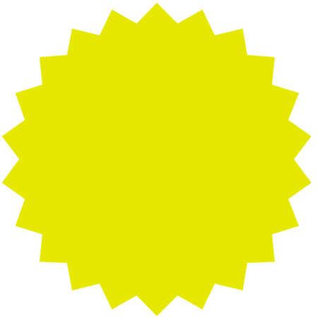 ベクトル スター バースト、サンバーストのバッジ。黄色の色です。シンプルなフラット スタイルのビンテージ ラベル、ステッカー。デザイン要素です。ベクトル図 写真素材 - 85206575