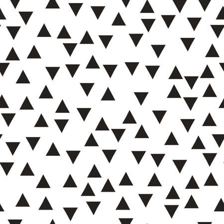 disposed: Vector seamless pattern with triangles. Modern stylish texture. Repeating geometric tiles. Hipster simple design with randomly disposed geometric shapes Vector illustration