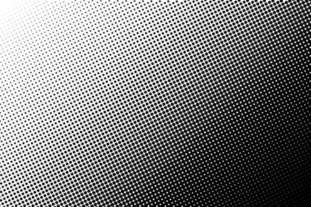 Abstract monochrome halftone pattern. Comic background. Dotted backdrop with circles, dots, point. Design element for web banners, posters, cards, wallpapers, sites. Black and white color Illustration