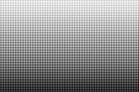 vector raster background: Abstract monochrome halftone pattern. Comic background. Dotted backdrop with circles, dots, point. Design element for web banners, posters, cards, wallpapers, sites. Black and white color Illustration