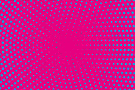 Comic pattern. Halftone background. Pink, blue, magenta color. Dotted retro backdrop, panels with dots, points, circles, rounds. Design element for web banners, posters, cards, wallpaper, sites.
