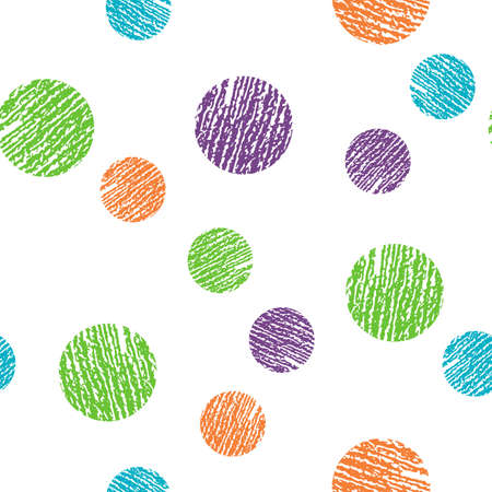 Polka dot style for print on fabric, gift wrap, web, scrap booking, patchwork. Ilustrace