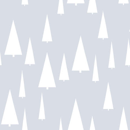 Christmas pattern with trees. Simple, winter background graphic to print on fabric, paper, gift wrapping, packaging, scrap-booking, covers, backdrops, wallpapers, web. Seamless vector illustration Illustration