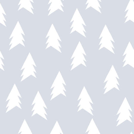 christmas backdrop: Christmas pattern with trees. Simple, winter background graphic to print on fabric, paper, gift wrapping, packaging, scrap-booking, covers, backdrops, wallpapers, web. Seamless vector illustration Illustration