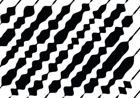 Modello monocromatico astratto, grunge, effetto mezzatinta, irregolare, che modifica lo spessore delle linee. L'elemento del design per creare layout, pelli, stampa su carta, tessuto, avvolgere. Illustrazione vettoriale Archivio Fotografico - 86541601