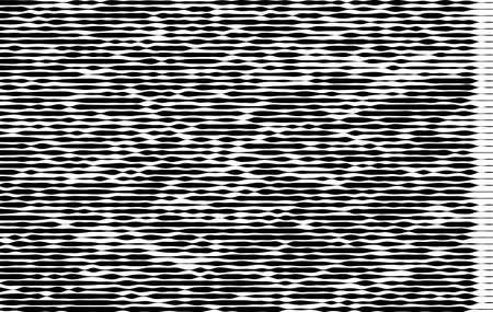 Modello monocromatico astratto, grunge, effetto mezzatinta, irregolare, che modifica lo spessore delle linee. L'elemento del design per creare layout, pelli, stampa su carta, tessuto, avvolgere. Illustrazione vettoriale Archivio Fotografico - 86541607
