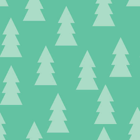 Christmas pattern with trees. Abstract winter forest. Simple background to print on fabric, paper, gift wrapping, packaging, scrap-booking, covers, backdrops, wallpapers, web. Vector illustration