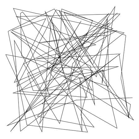Asymmetrical texture with random chaotic lines Illustration