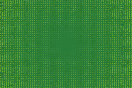 Random numbers - 9. Background in a matrix style. Code pattern with digits on screen, falling character. Abstract digital backdrop. Vector illustration