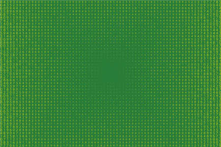 Random numbers 0 - 9. Background in a matrix style. Code pattern with digits on screen, falling character. Abstract digital backdrop. Vector illustration.