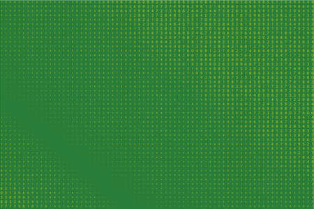 Random numbers 0 - 9. Background in a matrix style. Code pattern with digits on screen, falling character. Abstract digital backdrop. Vector illustration