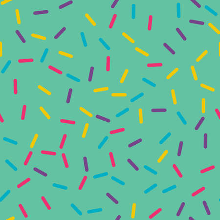 Festival seamless pattern with confetti or donuts glaze, sprinkles. Repeating background, vector illustration Ilustração