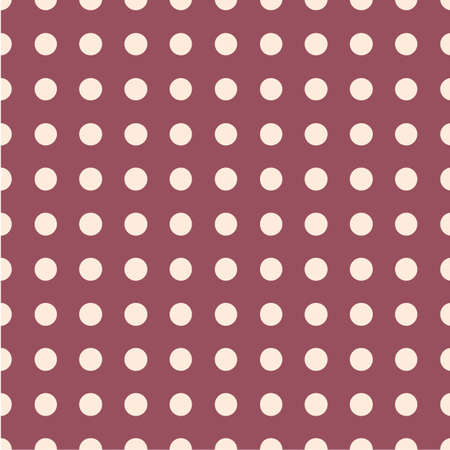 Polka dot seamless pattern. Dotted background with circles, dots, rounds. Ilustração