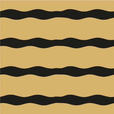 Wavy seamless pattern on a gold background.
