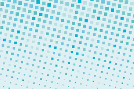 Halftone background. Comic style. Abstract geometric pattern with small squares. Design element for web banners, posters, cards, wallpapers, backdrops Different shades of Blue Vector illustration Illustration