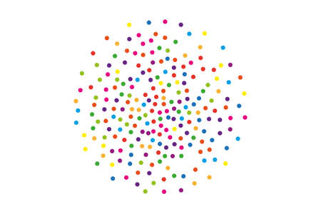 Festival pattern with color round glitter, confetti. Random, chaotic polka dot. Bright background for party invites, wedding and more.