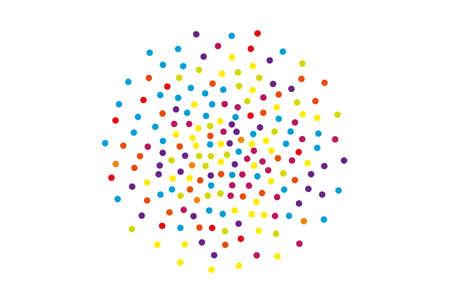 Colorful pol dot pattern.