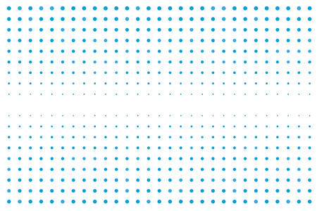 Abstract futuristic halftone pattern of dotted backdrop in blue color Illustration