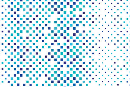 Abstract geometric pattern with small squares in  blue and white color Vector illustration Illustration
