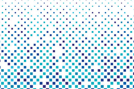 Abstract geometric pattern with small squares. Design element for web banners, posters, cards, wallpapers, backdrops, panels Blue and white color Vector illustration Illustration