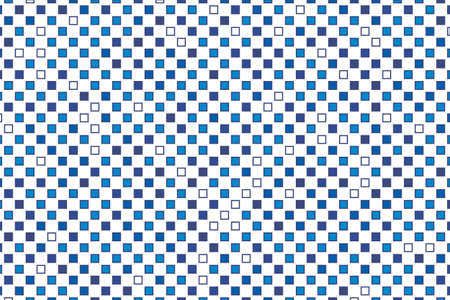 Abstract geometric pattern with small squares. Design element for web banners, posters, cards, wallpapers, backdrops, panels, covers, brochures. Different shades of blue Vector illustration Illustration