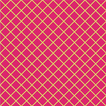 Yellow and pink geometric pattern.