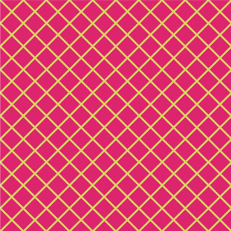 grille: Yellow and pink geometric pattern.