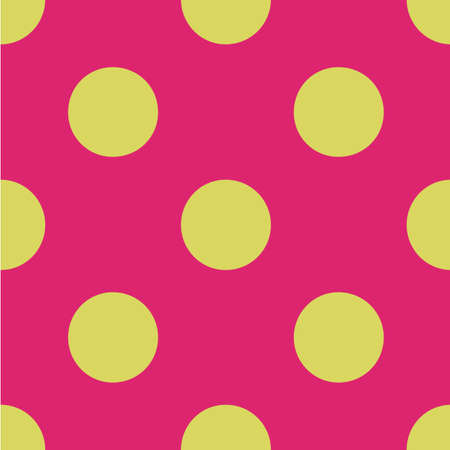 repetitive: Yellow polka dots pattern.