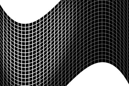 Halftone background. Abstract geometric pattern with small squares. Design element for web banners, posters, cards, wallpapers, backdrops, panels Black and white color Vector illustration Illustration