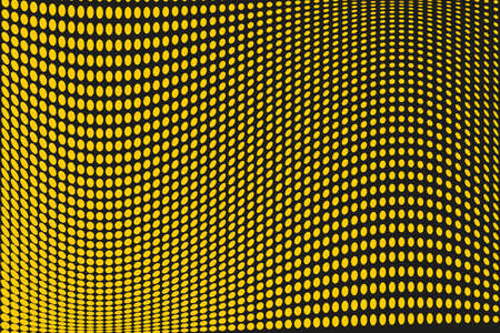 Abstract futuristic halftone pattern. Comic background. Dotted backdrop with circles, dots, point large scale. Design element for web banners, posters, cards, wallpapers, sites. Black, yellow color Illustration