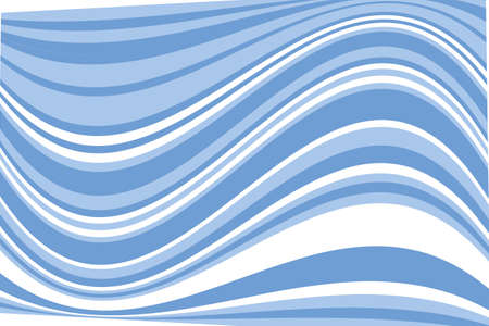 Wavy pattern. Geometric background. Vector illustration, Blue color