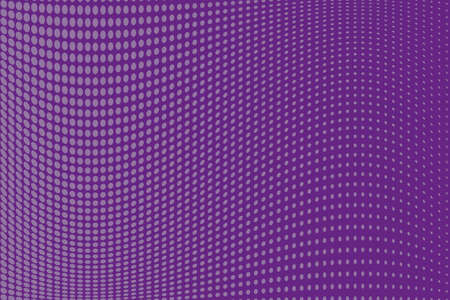 Abstract wavy halftone pattern. Comic background. Dotted backdrop with circles, dots, point small scale. Design element for web banners, posters, cards, wallpapers, sites. Purple, violet color