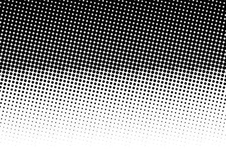 Abstract monochrome halftone pattern. Dotted backdrop with circles, dots, point. Design element for web banners, posters, cards, wallpapers, sites. Black and white color. Vettoriali