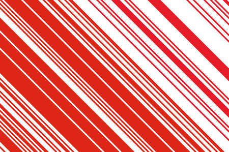 Christmas candle, lollipop pattern. Striped diagonal background with slanted lines. Stripy backdrop for print on wrapping. Vector illustration.