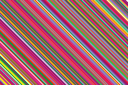 Christmas candle, lollipop pattern. Striped diagonal background with slanted lines. Stripy backdrop for print on wrapping. Vector illustration Colorful rainbow Illustration