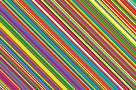 Colorful striped diagonal slanted lines background. Çizim
