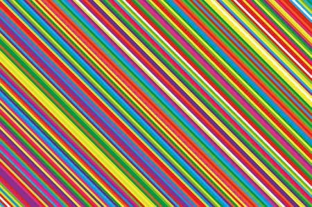 Colorful striped diagonal slanted lines background. Illustration