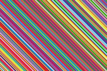 Colorful striped diagonal slanted lines background. Ilustração