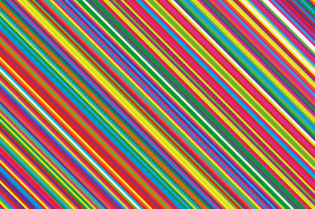 Christmas candle, lollipop pattern. Striped diagonal background with slanted lines. Stripy backdrop for print on wrapping. Vector illustration Colorful rainbow Ilustração