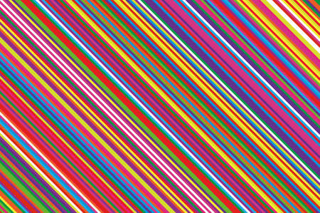 Christmas candle, lollipop pattern. Striped diagonal background with slanted lines. Stripy backdrop for print on wrapping. Vector illustration Colorful rainbow Vectores