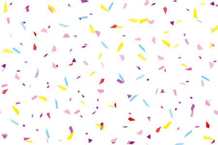 Festival seamless pattern with confetti. Repeating background, vector illustration Rectangular horizontal Çizim