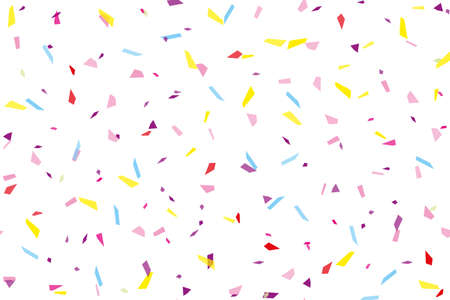 Festival seamless pattern with confetti. Repeating background, vector illustration Rectangular horizontal Illustration