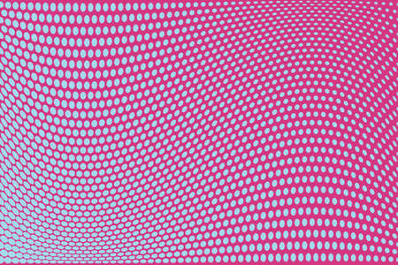 Abstract futuristic halftone pattern. Comic background. Dotted backdrop with circles, dots, point large scale. Design element for web banners, posters, cards, wallpapers, sites. Pink, blue color Illustration